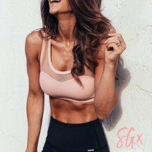 Sg x Cleo Harper Mesh Ruched Sports Bra